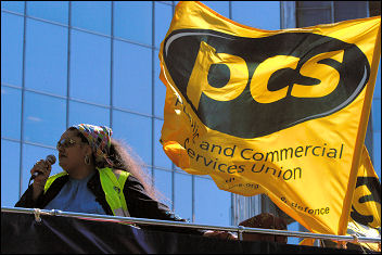 PCS on strike 1 May 2007, photo Paul Mattsson