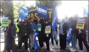 NASUWT strike at Starbank school, Birmingham, photo by Bob Severn