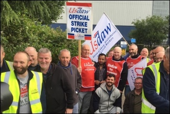 Sainsbury's strikers at Waltham Point, 27.6.19, photo by Usdaw Activist