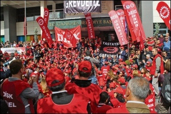 Turkish unions have organised protests in defence of workers' rights, photo CWI