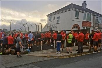Plymouth Royal Mail workers on strike against bullying management, 24-26.7.19, photo Ryan Aldred