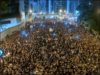 One of the many demos in Hong Kong over the last two months, photo StudioIncendo