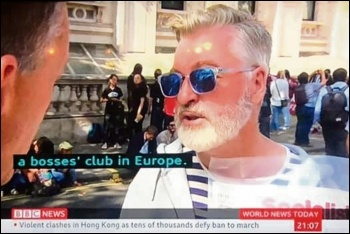 Socialist Party member Glenn Kelly explains to the BBC that socialists oppose the EU