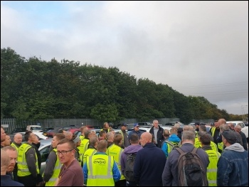 Hull construction workers strike against blacklisting photo Hull Socialist Party