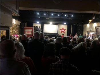 Packed book launch