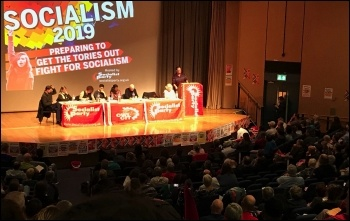 Socialism 2019: the Saturday rally, 2nd November 2019.