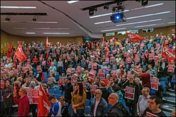 The rally stands in solidarity with the Royal Mail strikers, photo Urte Fultinaviciute