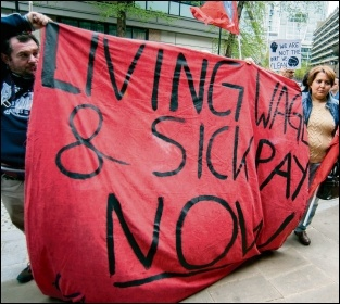 Other low-paid cleaners on strike for better wages and sick pay, photo by Paul Mattsson