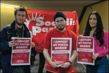 Solidarity with the CWU, photo by Urte Fultinaviciute