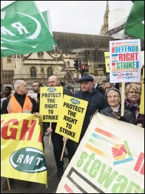RMT & NSSN lobby parliament. 19.12.19, photo JB