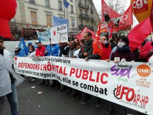 Workers demonstrating in Rouen, France, 5.12.19, photo by GR