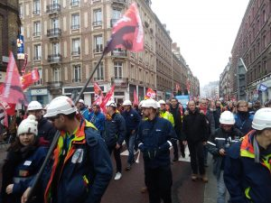Marching in Rouen, December 2019, photo by GR