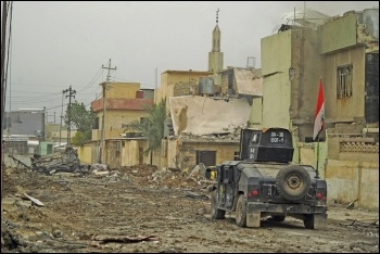A military patrol in Mosul, Iraq, photo Mstyslav Chernov/CC