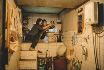 Parasite's protagonists live a squalid underground life while the rich luxuriate, still from Parasite