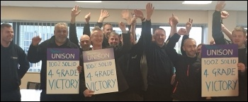 Sandwell council electricians win better pay, photo Sandwell Unison branch
