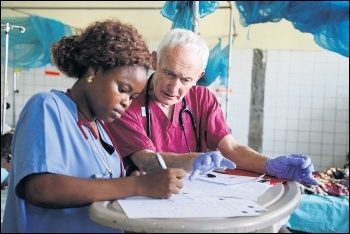 NHS staff are on the front line, photo by DFID/CC