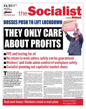 The Socialist issue 1085