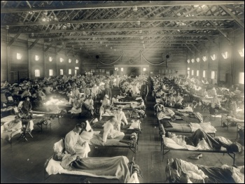 A hospital in Kansas during the Spanish flu pandemic in 1918