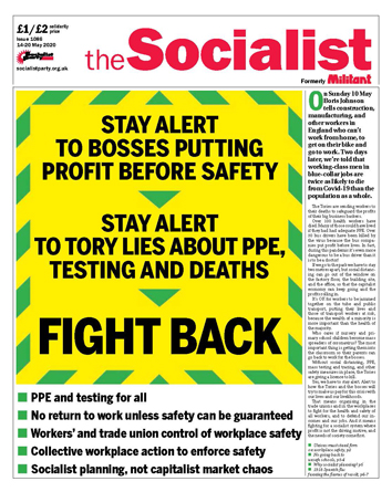 The Socialist issue 1086