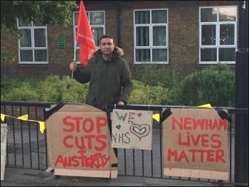 Demanding H&S, Newham, May 2020, photo East London SP