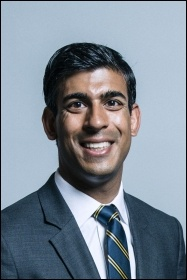 Tory chancellor Rishi Sunak, photo (public domain)