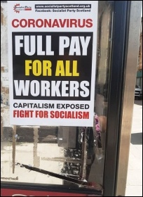 A Socialist Party Scotland poster in Glasgow, photo P Stott