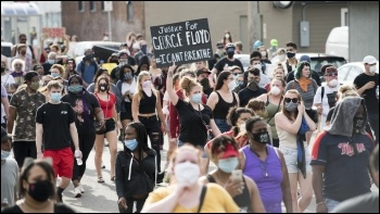 Black Lives Matter protest in Minnesota following the killing of George Floyd in May 2020, photo Fibonacci Blue/CC