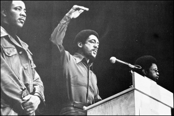 Bobby Seale addressing a Black Panther rally in 1971