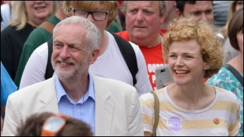 Maxine Peake (right), a member of Equity, with Jeremy Corbyn, photo rwendland/CC