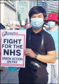Protest march in London, for a 15% pay increase for healthcare staff, 29.7.20, photo Isai