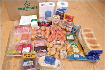 A Morrisons food parcel for two people for a week, photo by Philafrenzy/CC