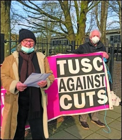 Socialists campaigning in Enfield, London. Photo: Enfield TUSC