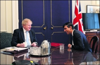 Boris Johnson and Rishi Sunak. Photo: Andrew Parsons,10 Downing Street/CC