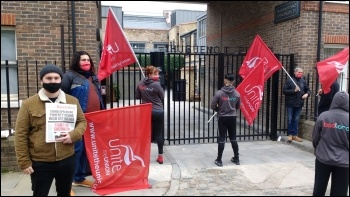 IT workers on strike at Goodlord. Photo: London SP