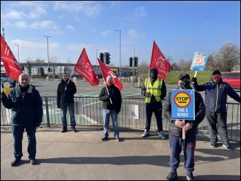 Strikers at 'Go North West' in Manchester Photo: Unite North West