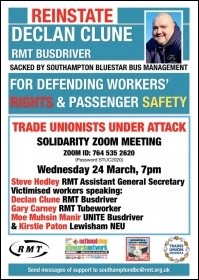 Bus workers are being targeted for trade union victimisation