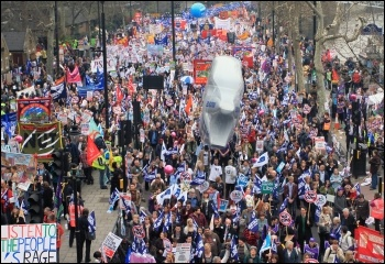 Strikers on the march in 2011. Photo: Senan