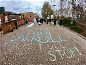 Save John Carroll protest. Photo: Claire Wilkins