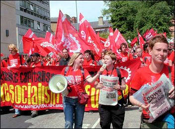 ISR demonstrating at the G8 in Edinburgh 2005