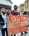 Protesting in Newcastle, photo by Elaine Brunskill