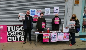 TUSC election campaigning, South Wales West, May 2021