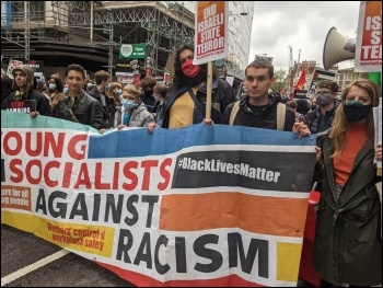 Young Socialists contingent on the demo against war on Gaza, 15.5.21