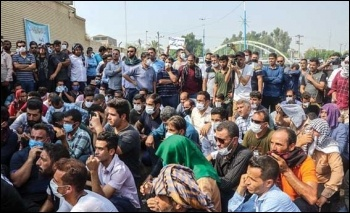 Striking Haft Tappeh sugar cane workers last year. Photo: Mohammed Anghar/Farsi News Agency/CC