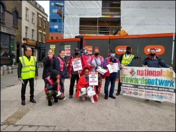 Workers on the picket line at Royal London Hospital. Photo: London Socialist Party