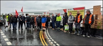 The sacked sparks form a picket line