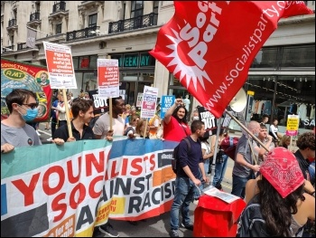 Young Socialists on the march 26 June 2021