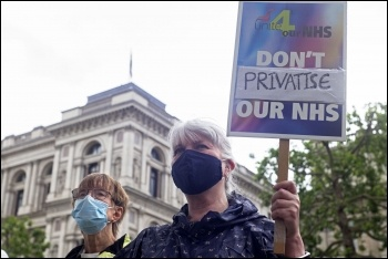 London 3 July NHS protest, 2021. Photo by Paul Mattsson