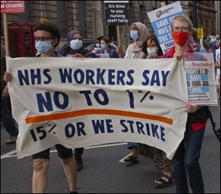 Marching in London on 3 July, including Naomi Byron (right), photo Paul Mattsson