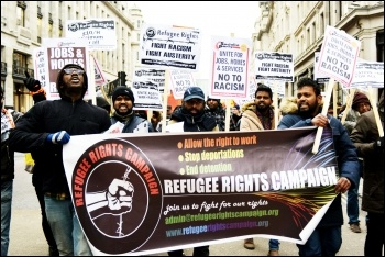 Refugee rights campaign. Photo: Mary Finch