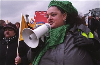 PCS members were striking on International Women's Day, photo Paul Mattsson
